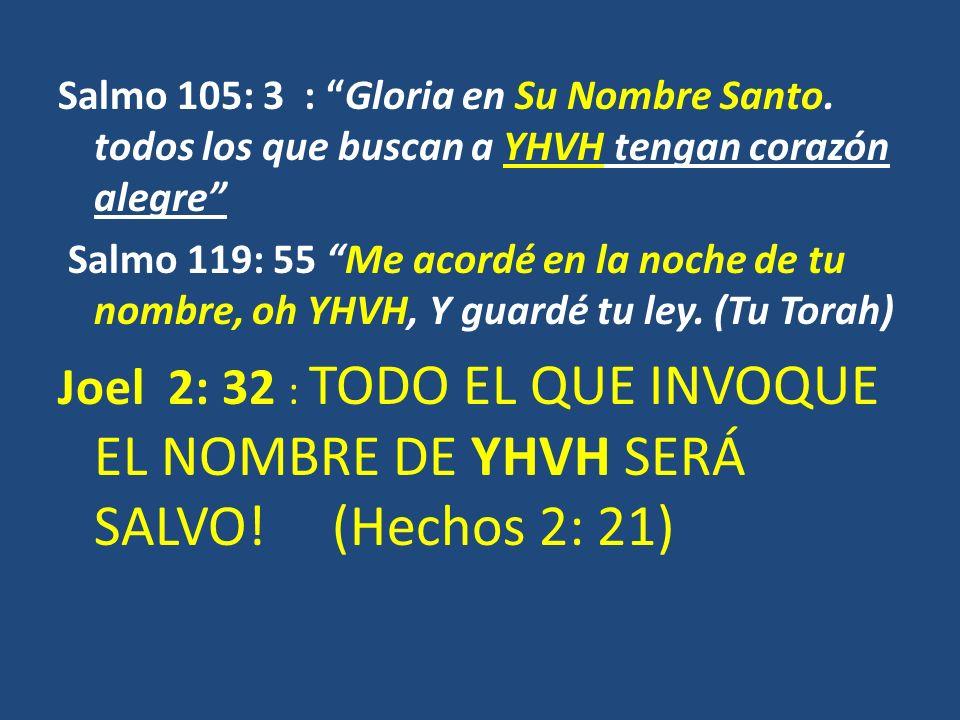 Salmo 105: 3 : Gloria en Su Nombre Santo