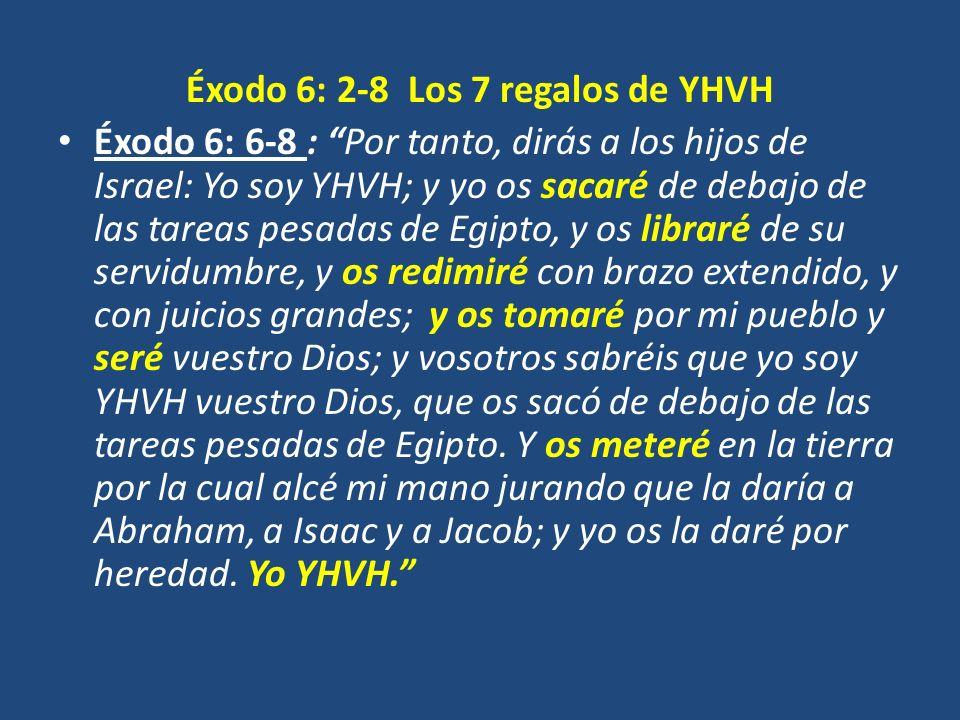 Éxodo 6: 2-8 Los 7 regalos de YHVH