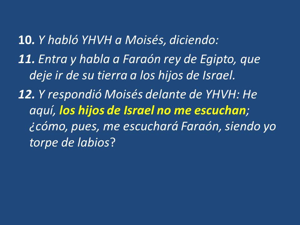 10. Y habló YHVH a Moisés, diciendo: 11
