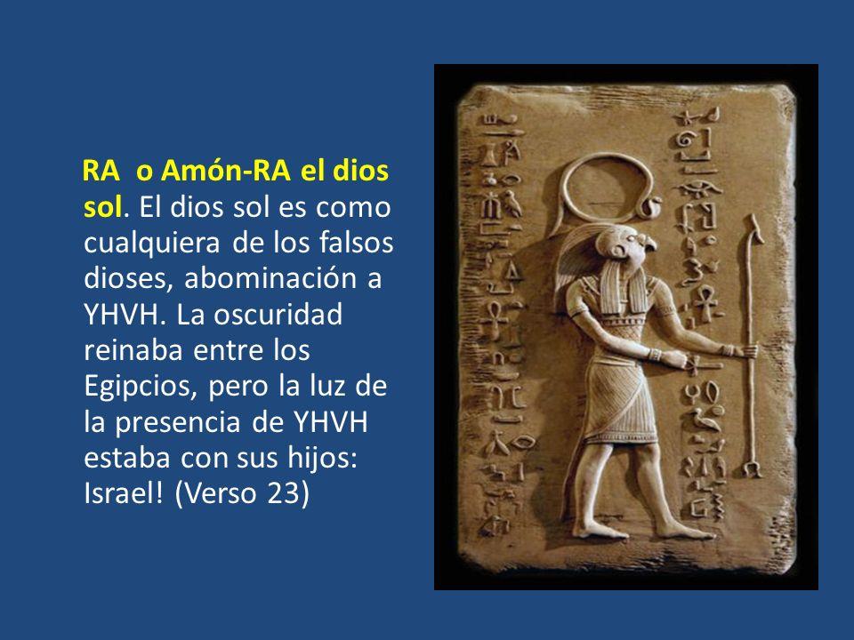 RA o Amón-RA el dios sol. El dios sol es como cualquiera de los falsos dioses, abominación a YHVH.