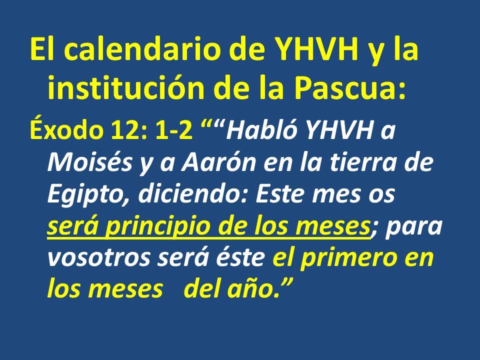 El calendario de YHVH y la institución de la Pascua: