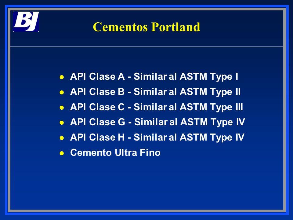 Cementos Portland API Clase A - Similar al ASTM Type I