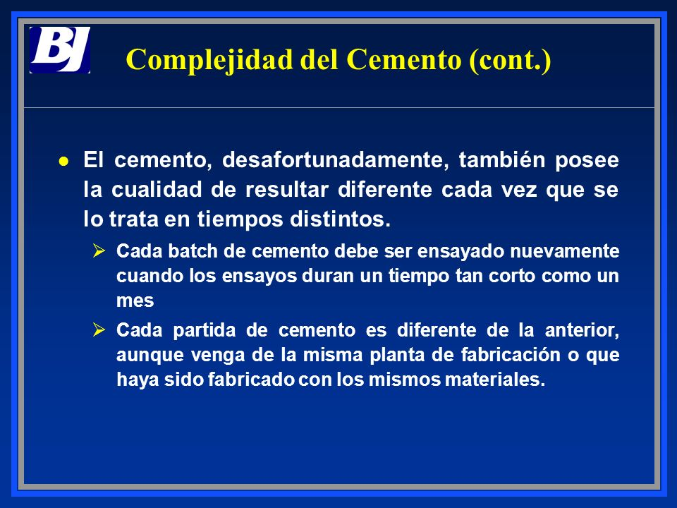 Complejidad del Cemento (cont.)