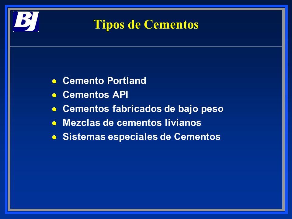 Tipos de Cementos Cemento Portland Cementos API