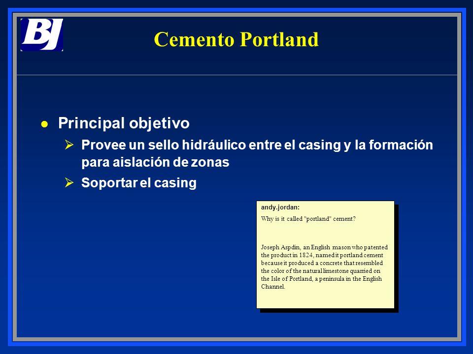 Cemento Portland Principal objetivo