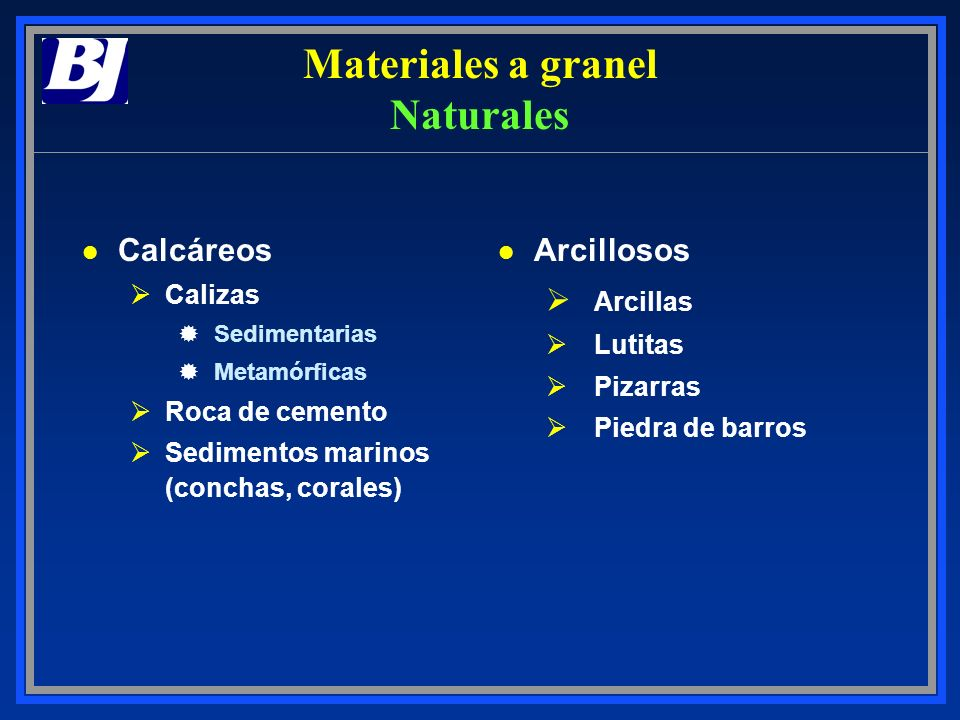 Materiales a granel Naturales