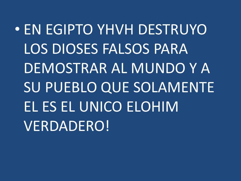 EN EGIPTO YHVH DESTRUYO LOS DIOSES FALSOS PARA DEMOSTRAR AL MUNDO Y A SU PUEBLO QUE SOLAMENTE EL ES EL UNICO ELOHIM VERDADERO!