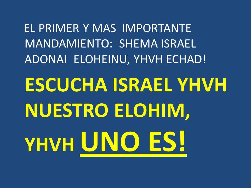ESCUCHA ISRAEL YHVH NUESTRO ELOHIM, YHVH UNO ES!