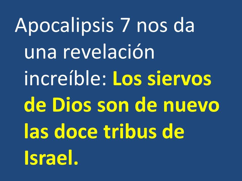 Apocalipsis 7 nos da una revelación increíble: Los siervos de Dios son de nuevo las doce tribus de Israel.