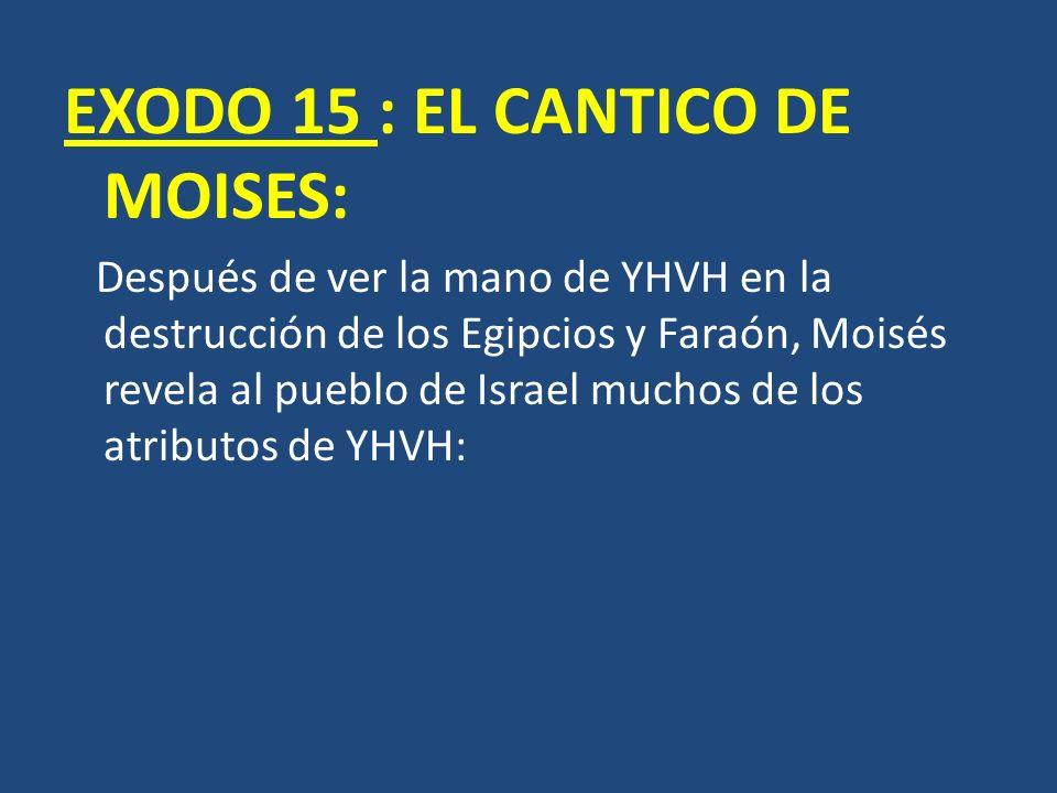 EXODO 15 : EL CANTICO DE MOISES: