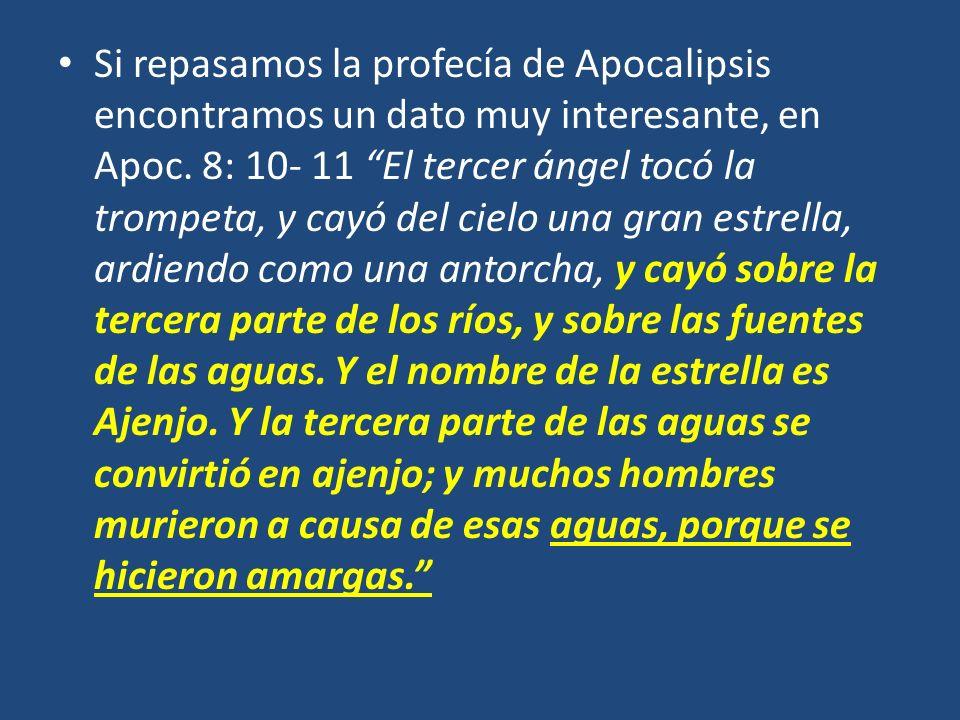 Si repasamos la profecía de Apocalipsis encontramos un dato muy interesante, en Apoc.