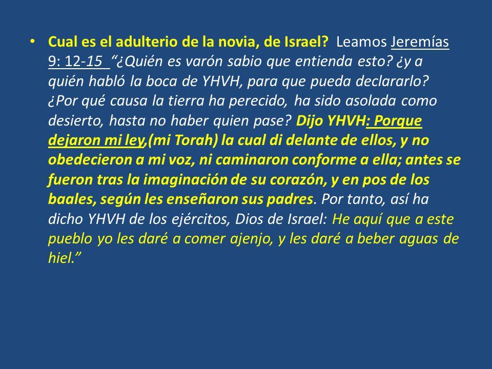 Cual es el adulterio de la novia, de Israel