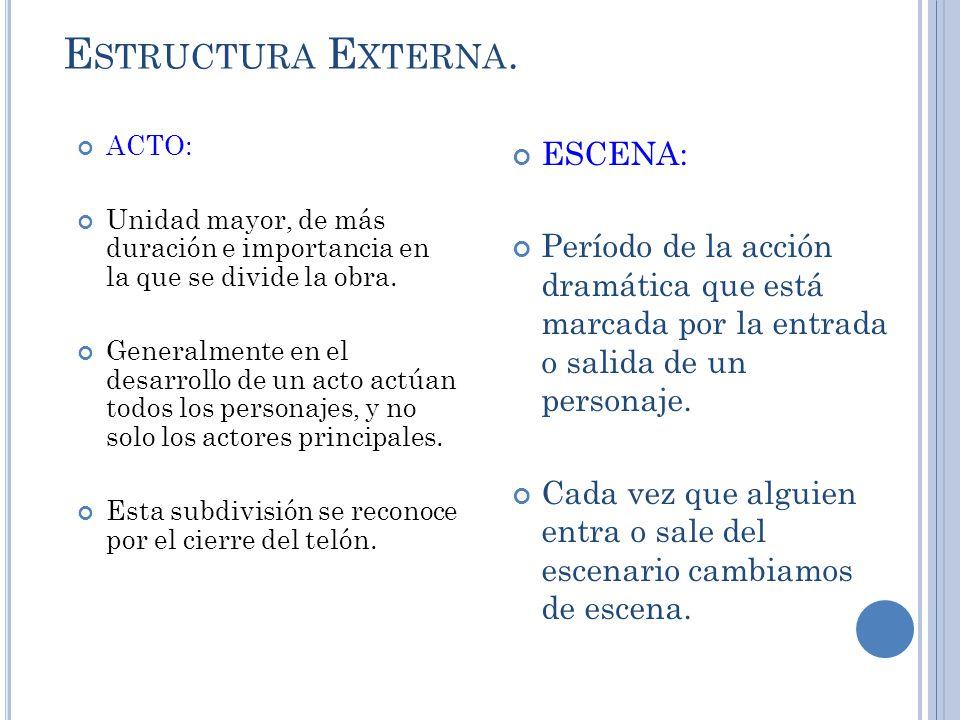 Estructura Externa. ESCENA: