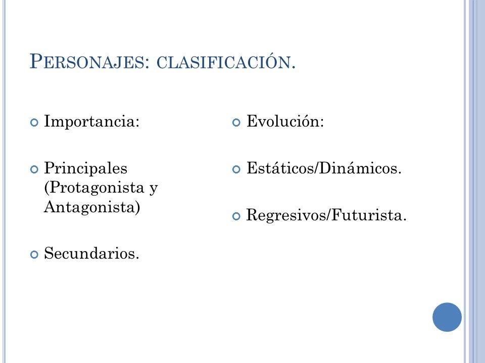 Personajes: clasificación.