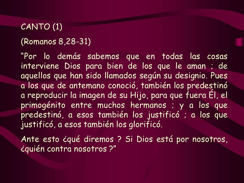 CANTO (1)(Romanos 8,28-31)