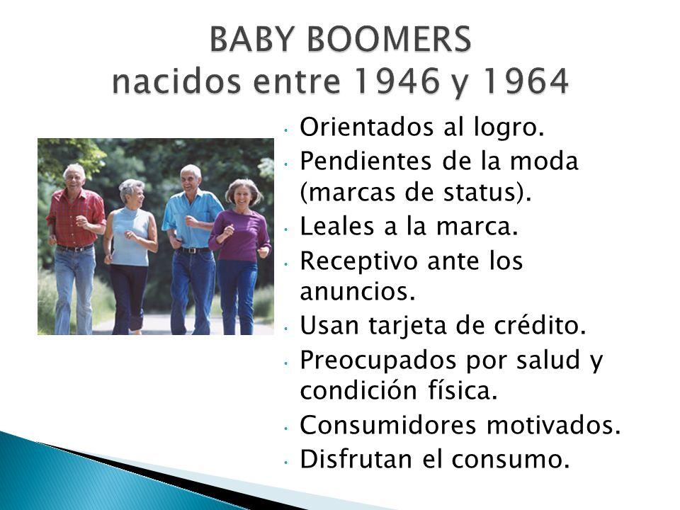 BABY BOOMERS nacidos entre 1946 y 1964