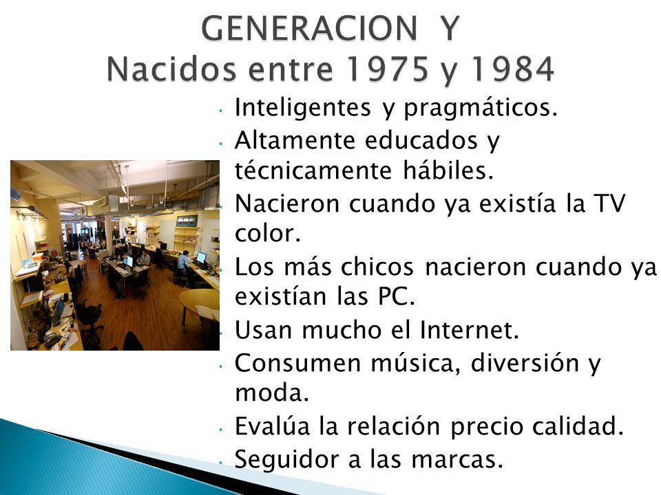 GENERACION Y Nacidos entre 1975 y 1984