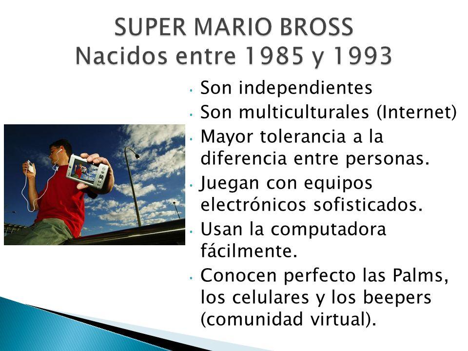 SUPER MARIO BROSS Nacidos entre 1985 y 1993