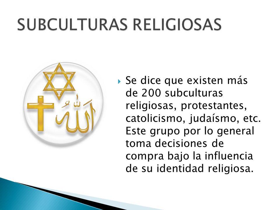 SUBCULTURAS RELIGIOSAS