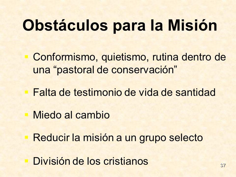 Obstáculos para la Misión