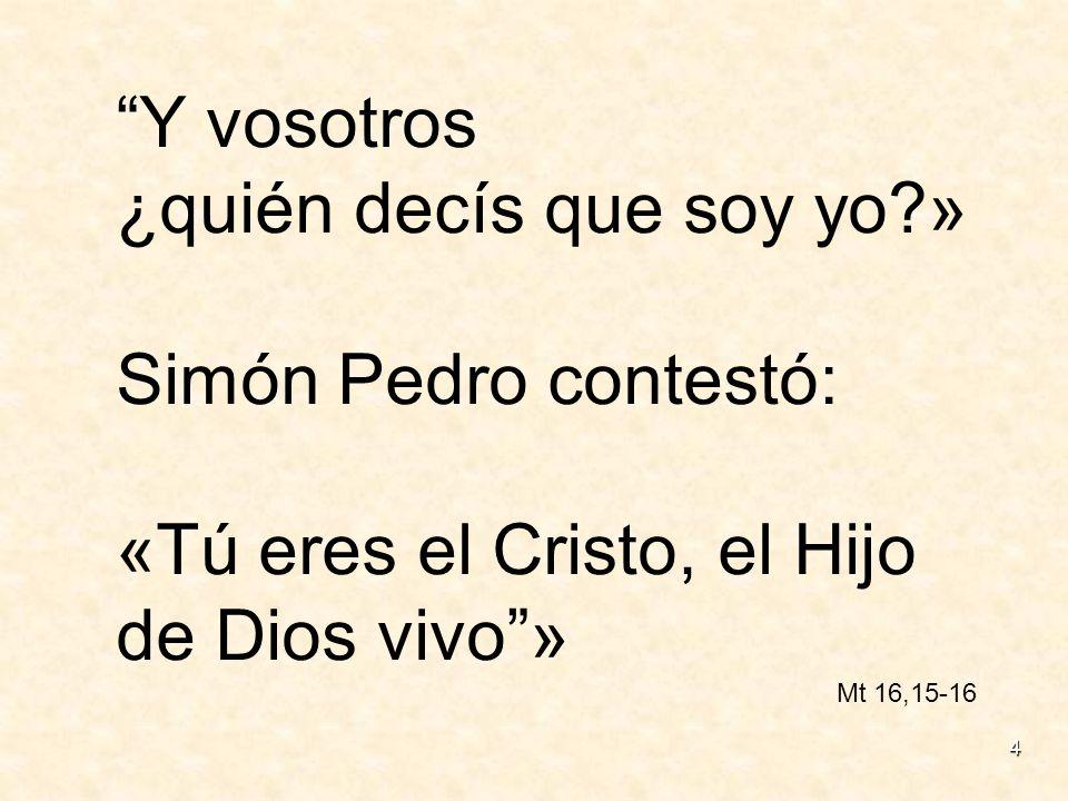 ¿quién decís que soy yo » Simón Pedro contestó: