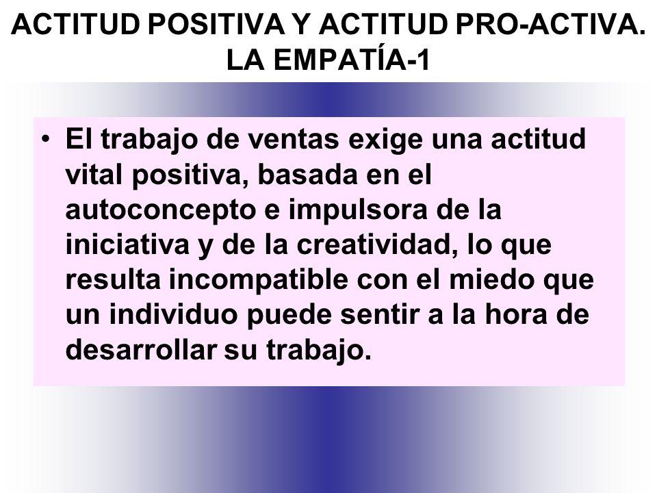 ACTITUD POSITIVA Y ACTITUD PRO-ACTIVA. LA EMPATÍA-1