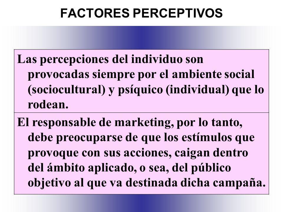 FACTORES PERCEPTIVOS