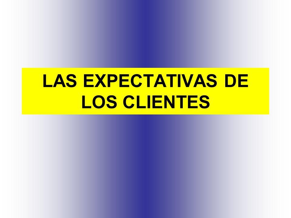 LAS EXPECTATIVAS DE LOS CLIENTES
