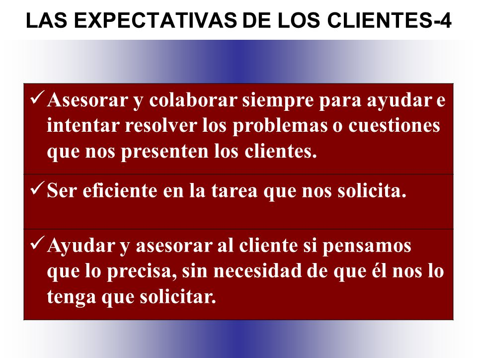 LAS EXPECTATIVAS DE LOS CLIENTES-4
