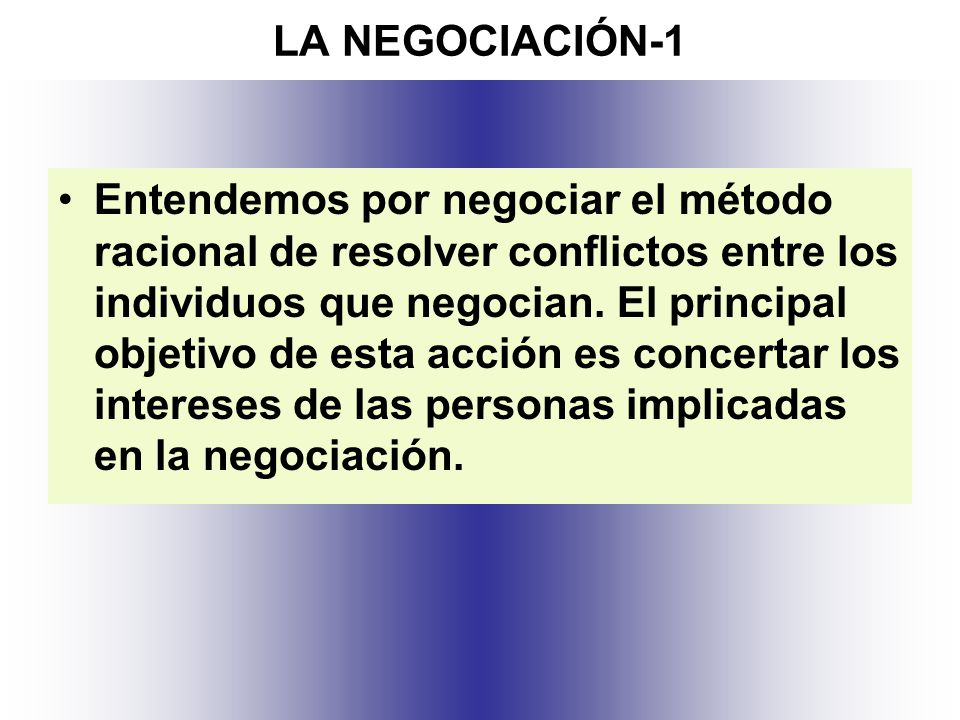 LA NEGOCIACIÓN-1
