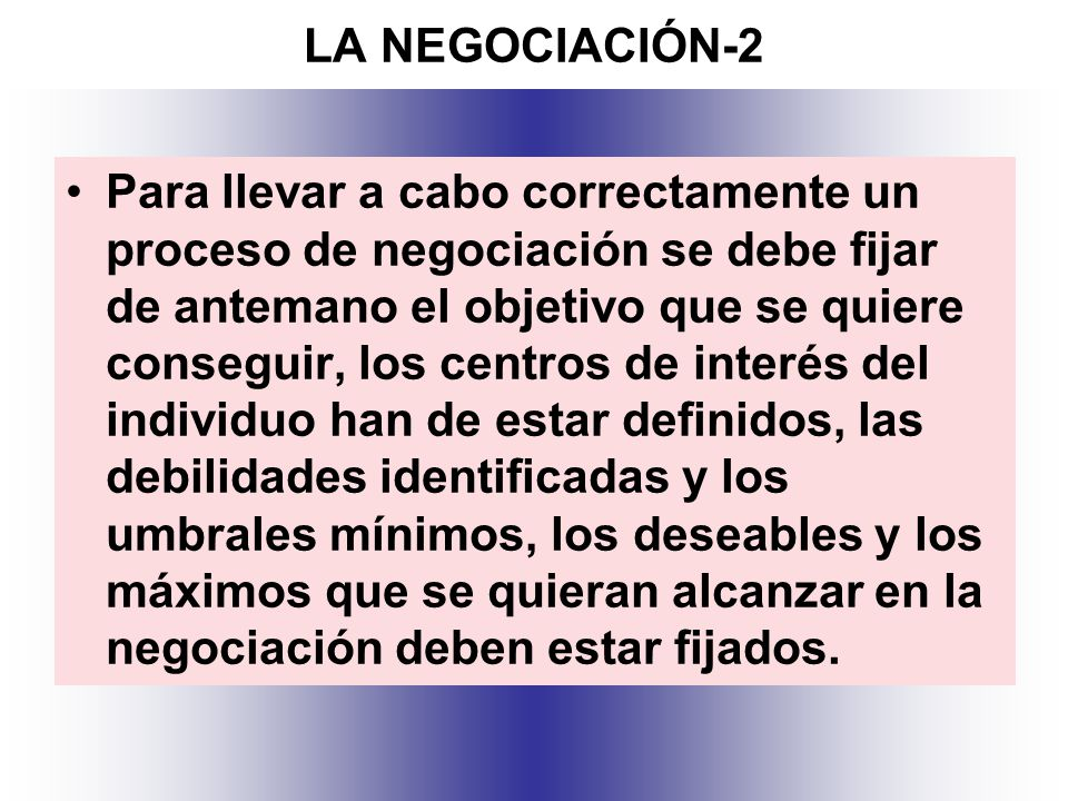 LA NEGOCIACIÓN-2