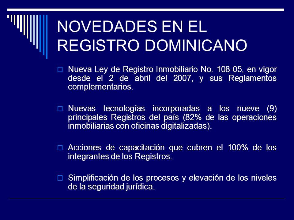 NOVEDADES EN EL REGISTRO DOMINICANO