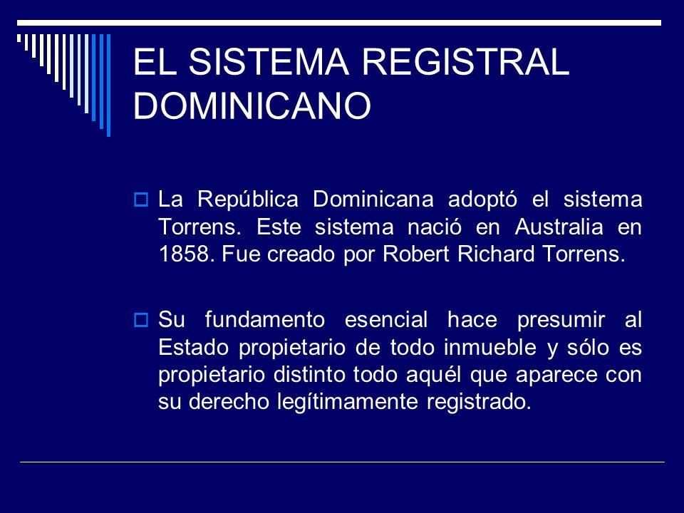 EL SISTEMA REGISTRAL DOMINICANO