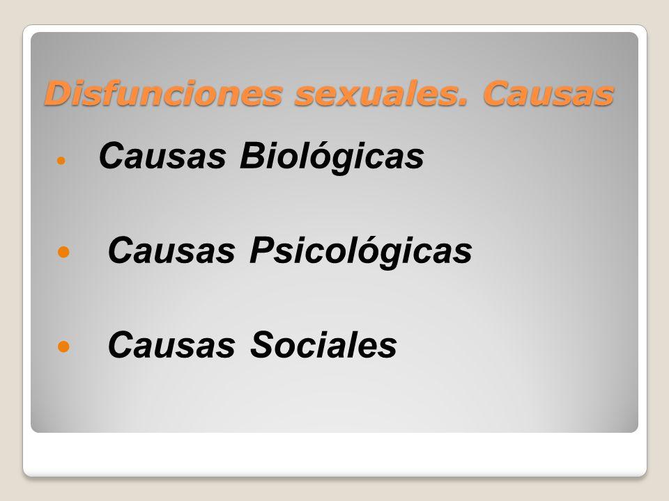 Disfunciones sexuales. Causas