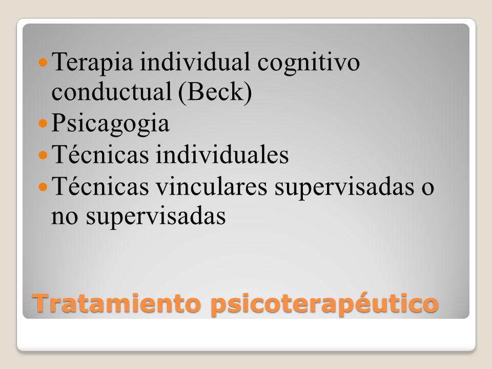 Tratamiento psicoterapéutico