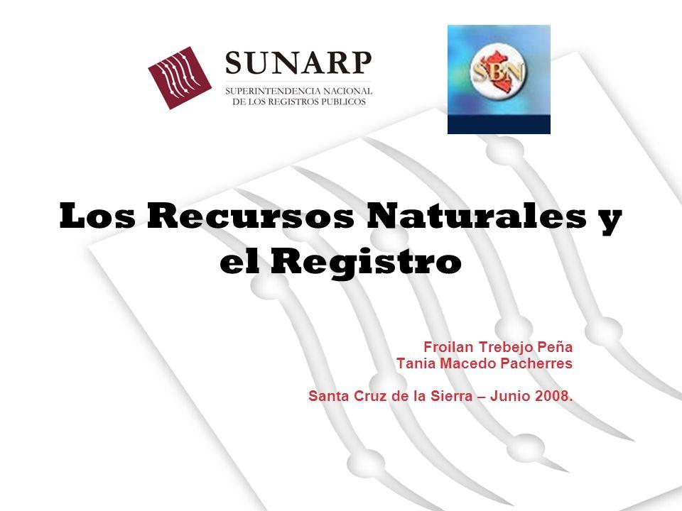 Los Recursos Naturales y el Registro