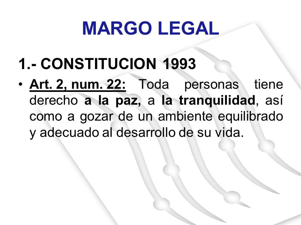 MARGO LEGAL 1.- CONSTITUCION 1993
