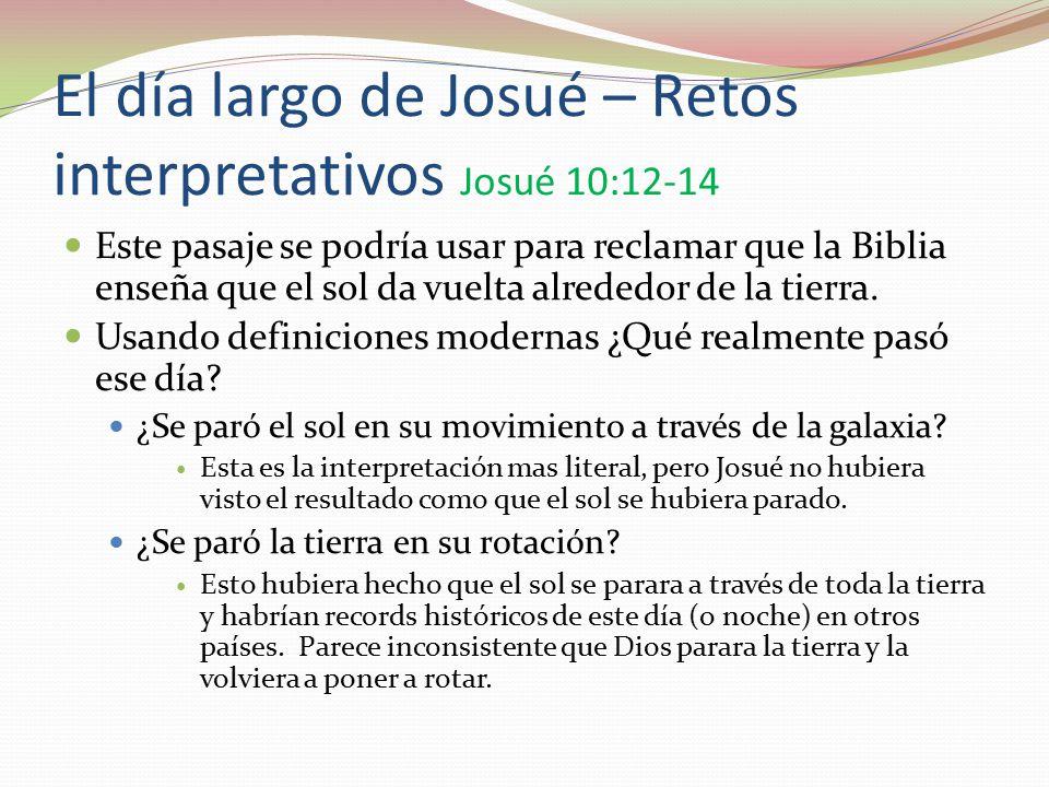 El día largo de Josué – Retos interpretativos Josué 10:12-14