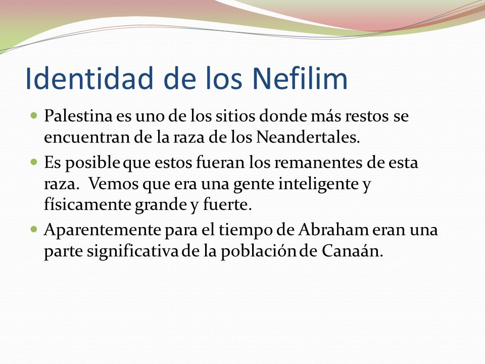 Identidad de los Nefilim