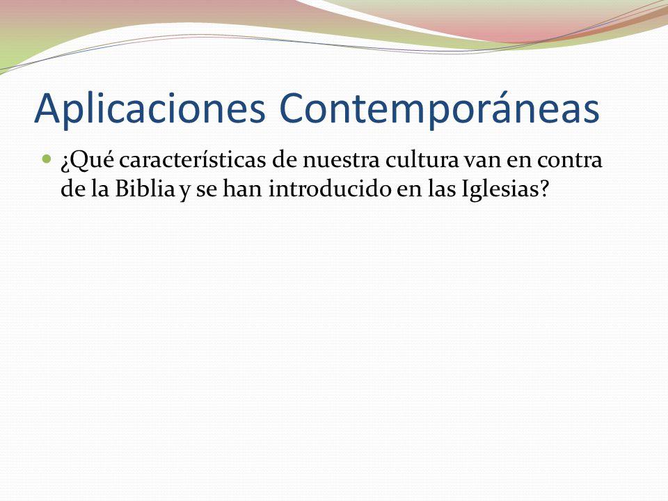 Aplicaciones Contemporáneas