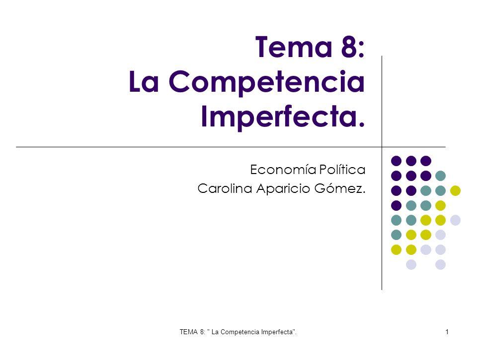 Tema 8: La Competencia Imperfecta.