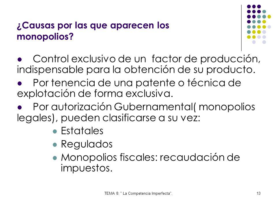 ¿Causas por las que aparecen los monopolios