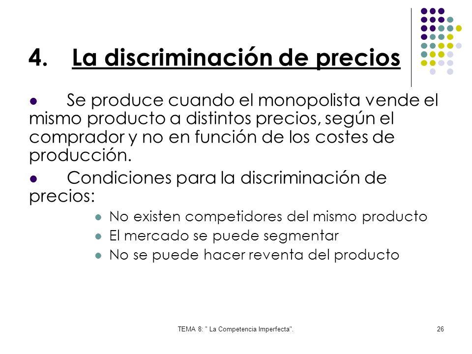 La discriminación de precios