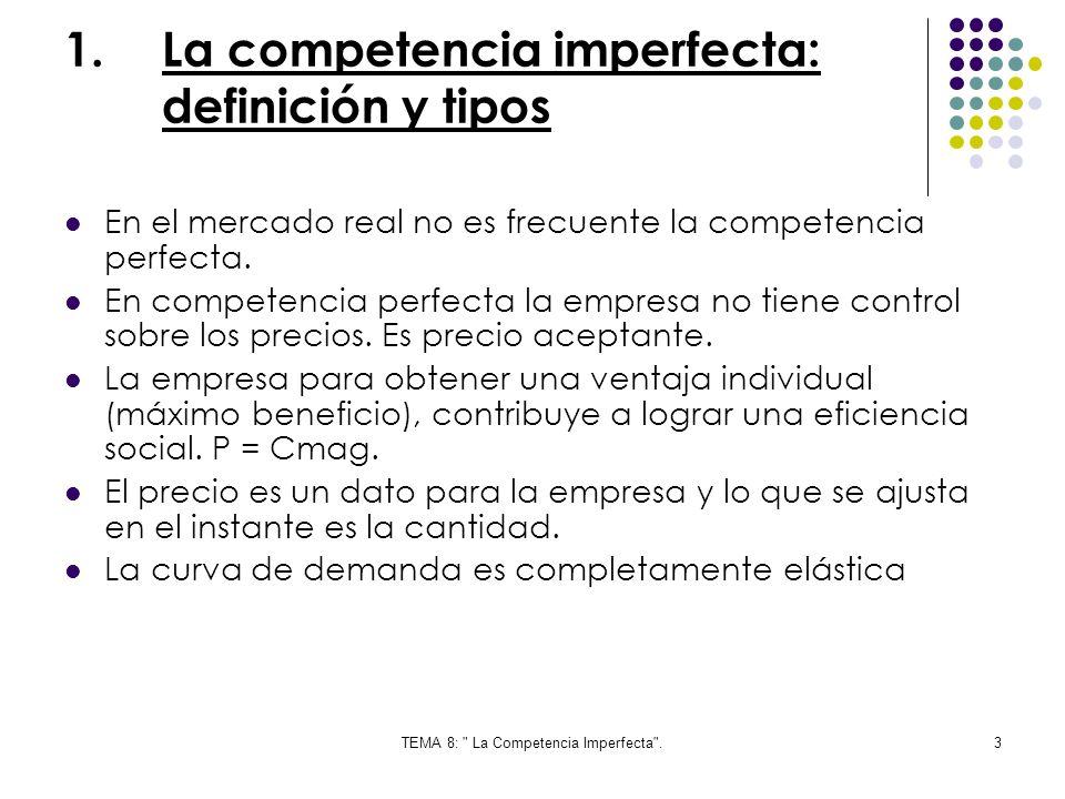 La competencia imperfecta: definición y tipos