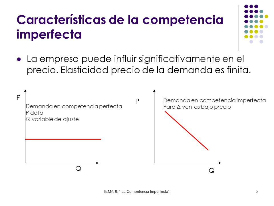 Características de la competencia imperfecta