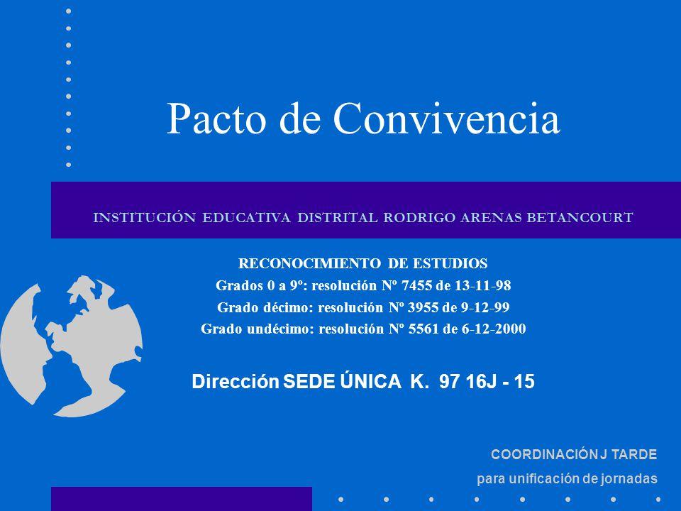 Pacto de Convivencia Dirección SEDE ÚNICA K. 97 16J - 15