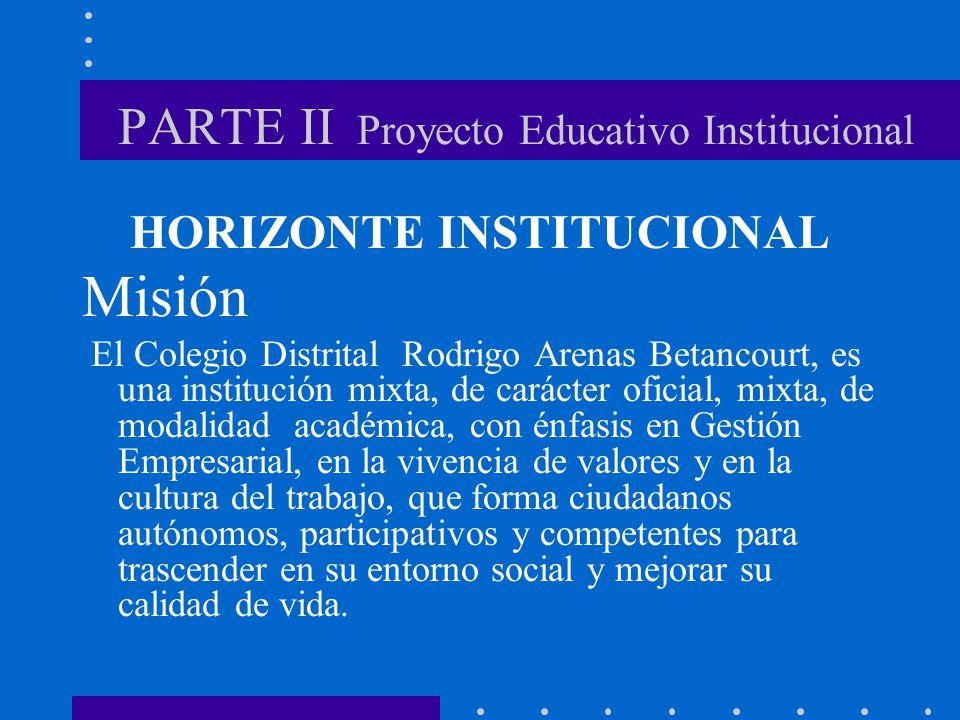 PARTE II Proyecto Educativo Institucional