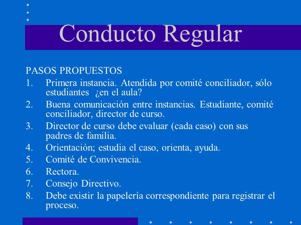 Conducto Regular PASOS PROPUESTOS