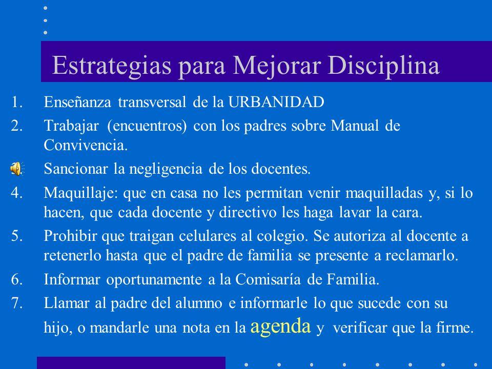 Estrategias para Mejorar Disciplina