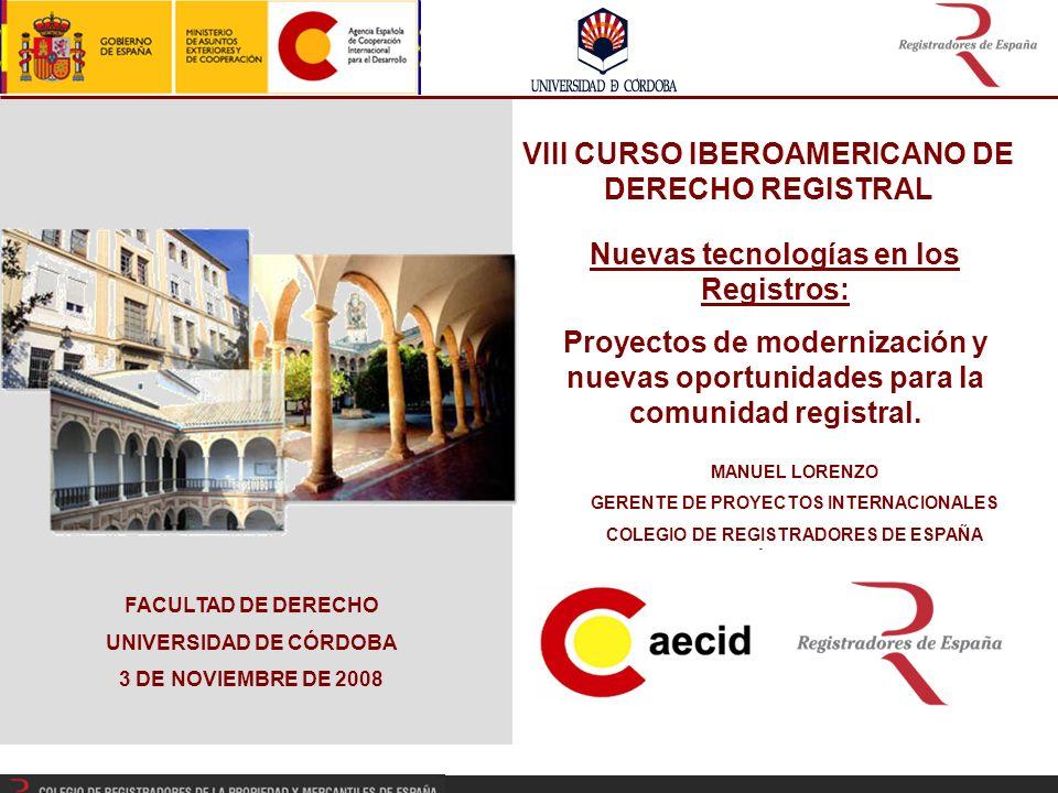 VIII CURSO IBEROAMERICANO DE DERECHO REGISTRAL
